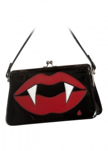 Hell Bunny Kiss Me Deadly Horror Fangs Handbag