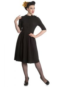 Hell Bunny Madison Rockabilly Midi Dress - Black