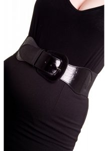 Hell Bunny Rizzo 50s Retro Waist Cincher Belt - Black