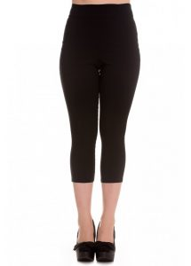 Hell Bunny Tina Rockabilly Capris / Pedal Pushers - Black