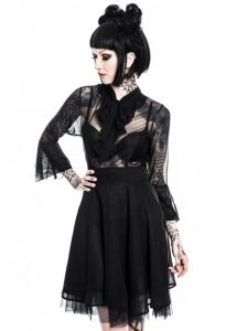 Killstar Decay Nu-Mourning Black Gothic Dress