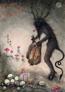 Krampus Illustration by Kirsty Greenwood