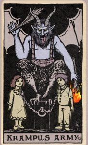 Krampus Tarot Card Candle Label
