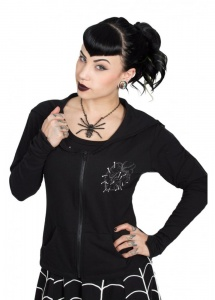 Kreepsville 666 Love N Kurses Black Bat Flap Psychobilly Jacket