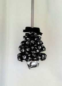 Gothic Skulls on Black Christmas Tree Ornament