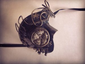Steampunk Embellished Phantom Half Face Mask
