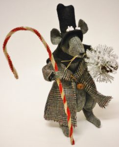 Victorian Christmas Mouse Decoration