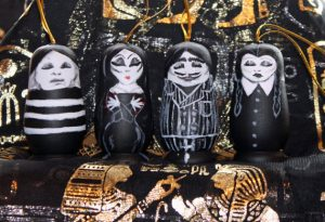 Addams Family Russian Dolls Christmas Tree Decorations Set of 4
