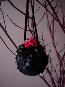 Black Gothic Christmas Tree Bauble Ornament