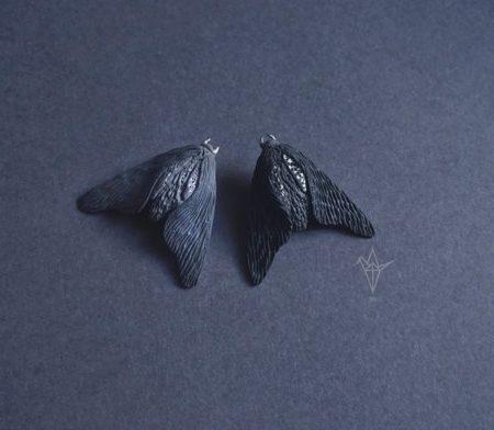 Black Moth Brooch