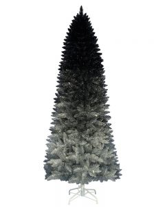 Black Silver Ombre Christmas Tree 6 Feet Tall