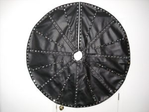 Gothic Black Christmas Tree Skirt