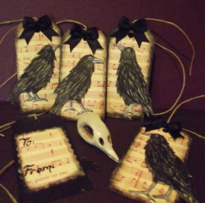 Gothic Raven Gift Tags