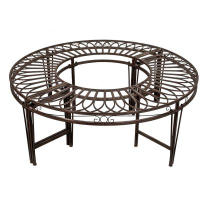 Gothic Round Steel Garden Bench Seating