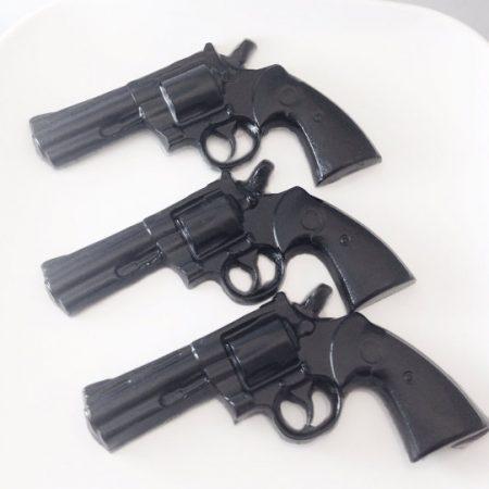 Set of 3 Black Gun Soaps