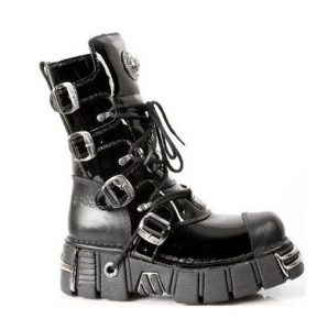 New Rock M.313-S1 Patent Platform Goth Boots