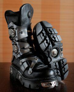 New Rock Skull Ghost Rider Platform Goth Boots