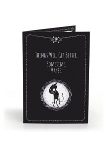Pechkeks Things Will Get Better Anti-Greeting Card
