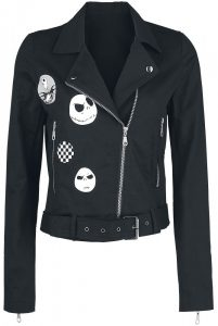 The Nightmare Before Christmas Jack Faces Biker Jacket