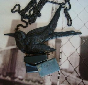 Gothic Raven I Love You Locket Necklace