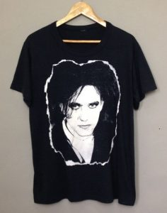 Robert Smith The Cure Black T-Shirt 1980s Vintage