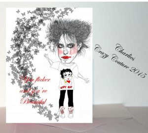 Robert Smith The Cure You Flicker and You're Beautiful Greetings Card