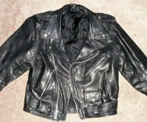 Vintage 1970s Punk Rocker Black Leather Motorcycle Jacket