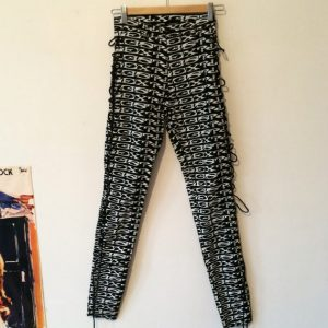 Vintage 80s 90s Black White Lip Service Sex Punk Jeans