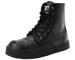 T.U.K. Black Kitty Cat Face Sneaker Boots