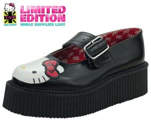 T.U.K. Hello Kitty Cat Face Mary Jane Creeper Shoes