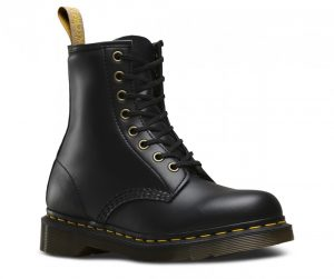 Dr Martens Vegan 1460 8-Eye Black Felix Rub Off Boots