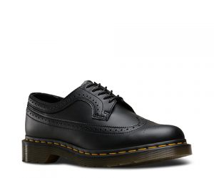 Dr Martens Vegan 3989 Black Felix Rub Off Brogue Shoes