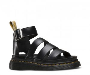 Dr Martens Vegan Clarissa II Black Felix Rub Off Gladiator Sandals