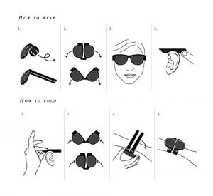 Black Slapsee Snap on Sunglasses How to Use