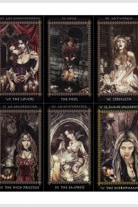 Downloadable Dark Gothic Vampires Witch Tarot Cards