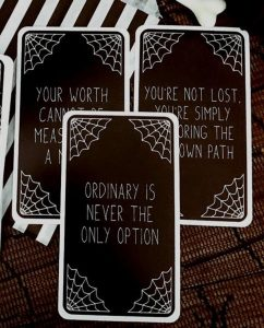 The Strange Girls Affirmation Deck - Goth Witch Cards