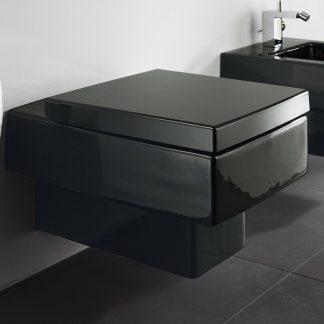 Vero Dual-Flush Square Rectangular Wall-Mount Toilet with Glazed Surface